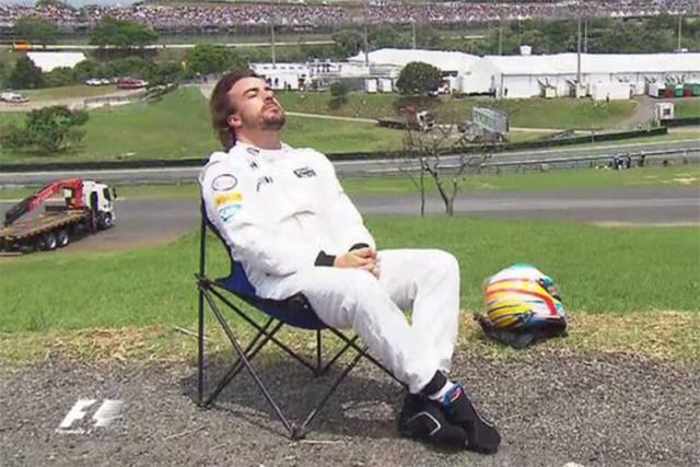 Alonso já tem a cadeirinha dele reservada...